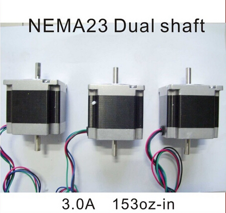 цена на 1pcs/lot NEMA 23 Stepper Motor Dual Shaft 8mm 1.2N.m (167oz-in) Body Length 56mm CE ROHS CNC Stepping Motor nema23