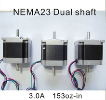 Factory Price! NEMA 23 Stepper Motor Dual Shaft 8mm 1.2N.m (167oz-in) Body Length 56mm CE ROHS CNC Stepping Motor nema23 dental teaching model adult dental teeth model anatomiacl tooth models mouth oral care cleft lip stitched model gasen den0020