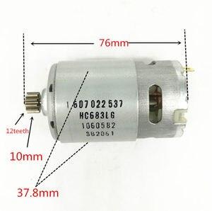 Image 2 - 12 Teeth  Motor Parts Set 2 609 199 378 2609199378 14.4V For  BOSCH GSR1440 LI  TSR1440 LI Cordless Drill Driver