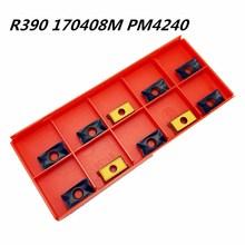 20PCS Carbide Tool R390 170408M PM4240 Internal Metal Turning CNC Lathe Tools Wood Milling