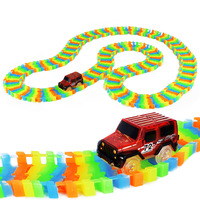 Miracle Glow Racing Track Set Flexible Track Led Car Toy 100 165 220 240pcs Race Track
