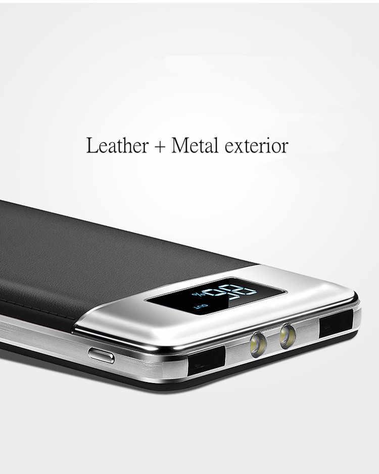 30000mah قوة البنك بطارية خارجية PoverBank 2 USB LED تجدد Powerbank المحمولة الهاتف المحمول شاحن هواتف xiaomi mi iphone XS huawei
