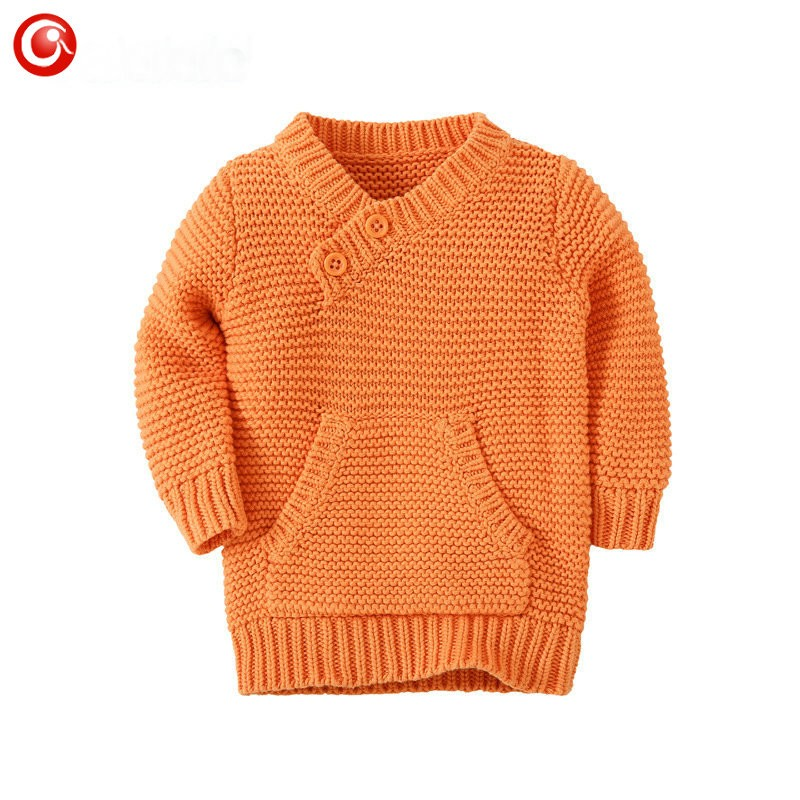 9M-4Y Knitting Pattern Baby Infant Cardigan With Pocket Kids Boys Cotton Sweater Clothes Children Girls Long Sleeve Soft Jumper (5)