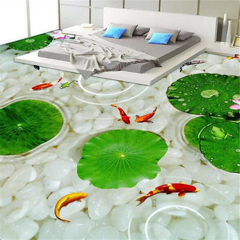 Beibehang 3D пол Современная Ванная комната Кухня одежда Нескользящие водонепроницаемые тапочки наклейка утолщение Papel де Parede Para Sala