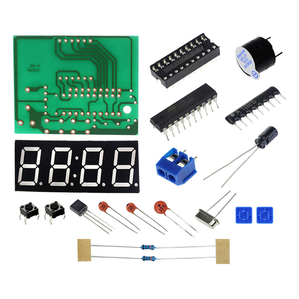 Wireless Stereo Fm Radio Receiver Module Pcb Diy Electronic Kits Circuit Production Project Suite Board High Quality C51 4 Bits Clock