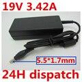 HSW 19V 3.42A 5 5*1 7 65W AC DC адаптер зарядное устройство для ноутбука ACER EMACHINES E350 E442 E528 G525 G725 C92