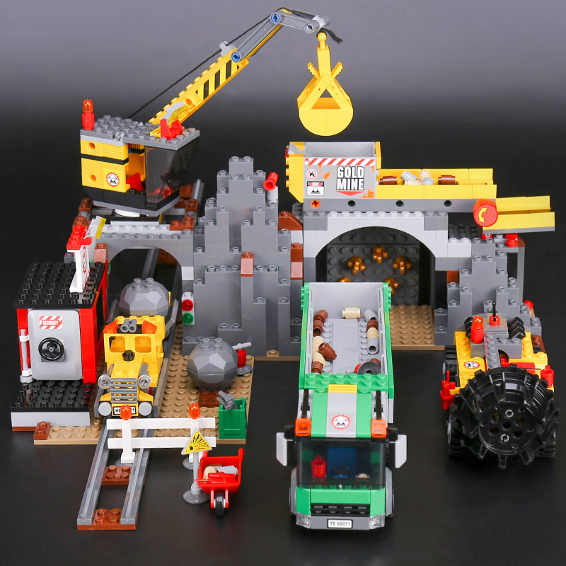 Lepin City Series 4204 the City Mine Set Assemblage Genuine Building Blocks Bricks Educational Toys Christmas Gifts lepin 02071 lepin 02052 genuine 1029pcs city series the fire station set 60110 building blocks bricks educational toys christmas gift model