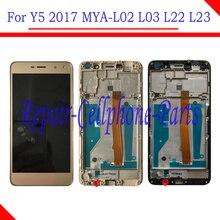 5.0 אינץ מלא LCD תצוגה + מסך מגע Digitizer עצרת + מסגרת כיסוי עבור Huawei Y5 2017 MYA L02 MYA L03 MYA L22 MYA L23
