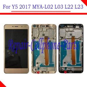 Image 1 - 5.0 インチフル液晶ディスプレイ + タッチスクリーンデジタイザ国会 + フレームカバー huawei 社 Y5 2017 MYA L02 MYA L03 MYA L22 MYA L23