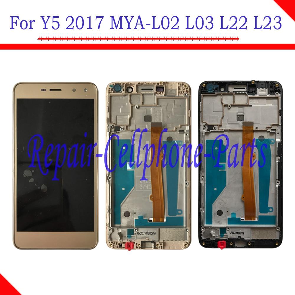 5.0 Inch Full LCD DIsplay + Touch Screen Digitizer Assembly + Frame Cover For Huawei Y5 2017 MYA-L02 MYA-L03 MYA-L22 MYA-L23