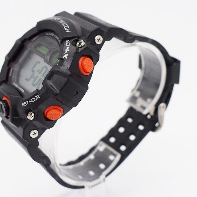 8258b4e524c9 Xfcs impermeable muñeca digital automático relojes para hombres digitais  reloj corriendo mens hombre reloj despertador plástico