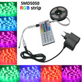 5050 LED RGB Strip 5M IP20 ac dc 12V  Led Tape Non-Waterproof lamps +44 keys IR  led dimmer remote for christmas decoration