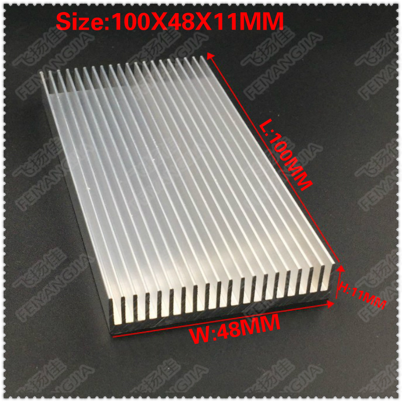 где купить (Free shipping) 5PCS lot Gdstime Aluminium Radiator Heatsink Heat Sink 100*48*11MM дешево