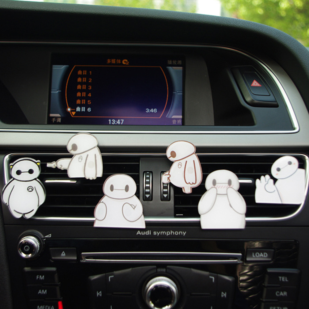 Car Perfume Clip Baymax Cartoon Acrylic Air Outlet Freshener Fragrance Car Flavor Smell Auto Decoration Accessories Gift 4x4.5cm And To Have A Long Life. Automobiles & Motorcycles