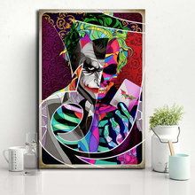 The Joker Skull Art Omar Molina Super Heroes Canvas Painting Oil Print Poster Wall Picture for Living Room Home Decoration
