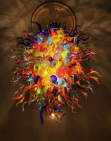 American Chandelier Multicolor Lamps Style Hanging DIY Hand Blown Glass Chandeliers Suspensions New House Decoration