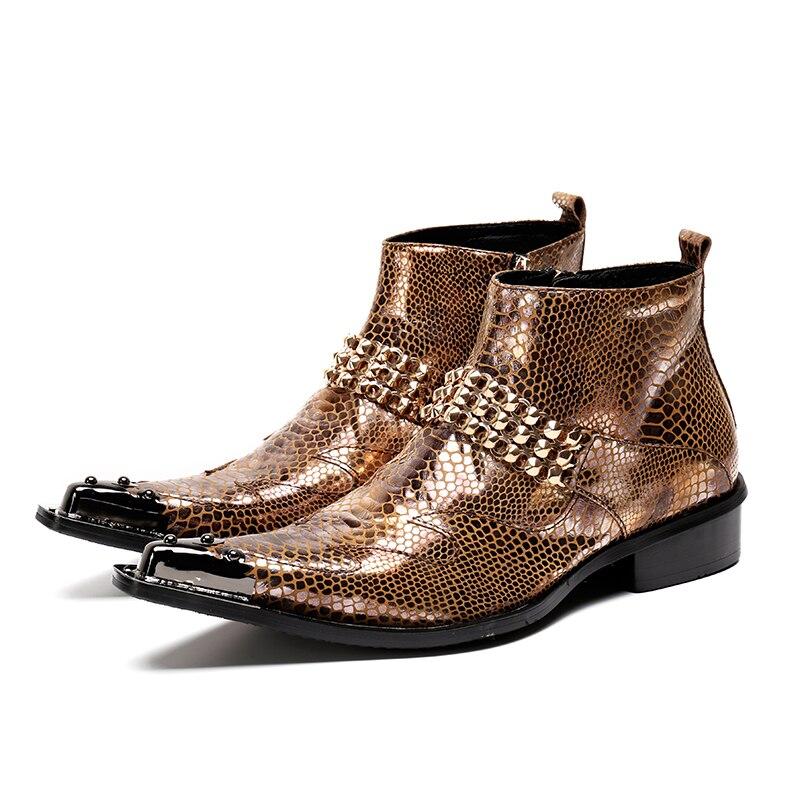 2019 envío gratis más nuevo Punta de punta de Metal de encaje picos antideslizante en zapatos de vestir sus trajes fiesta boda zapatos tamaño 37  46-in Botas básicas from zapatos    1