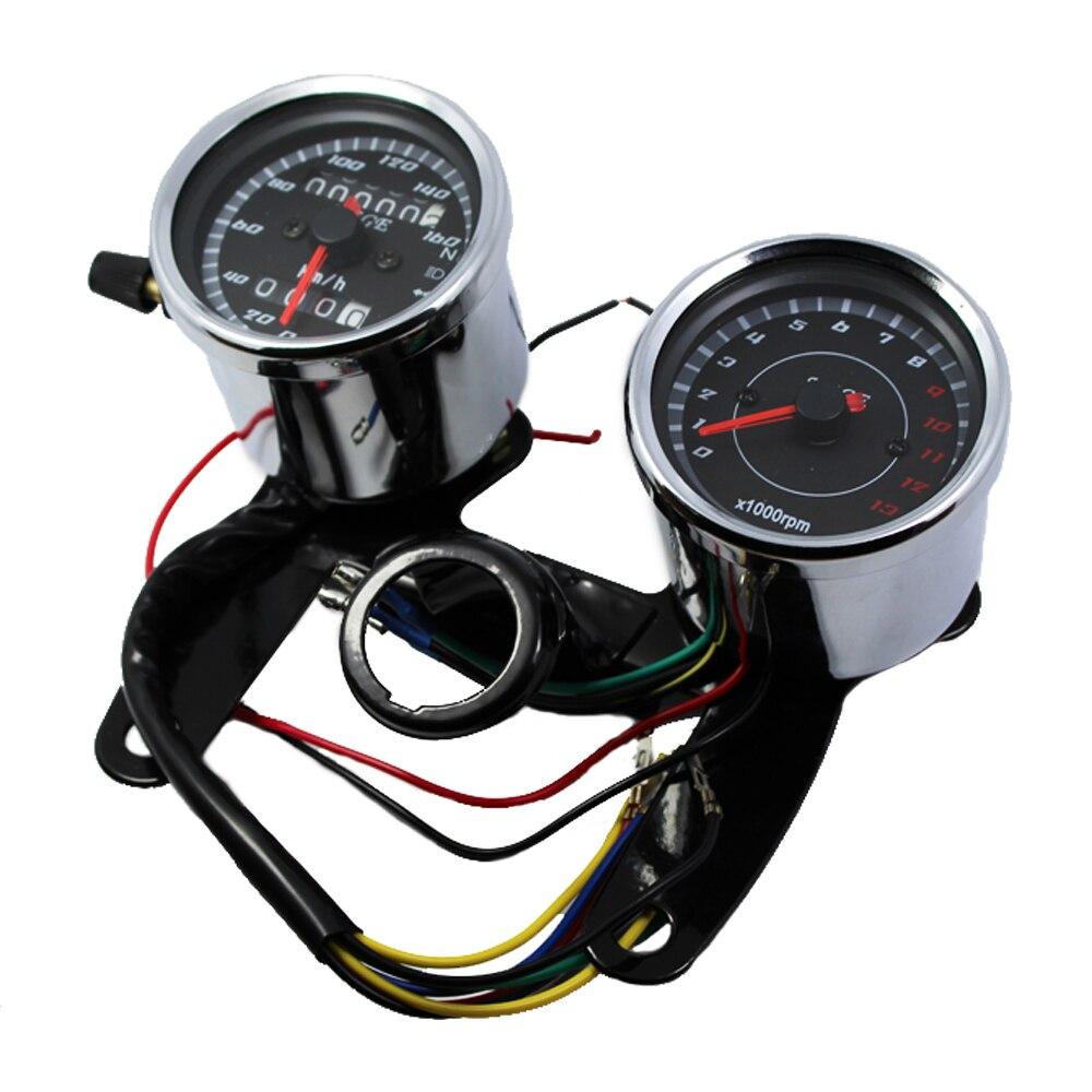 Chroomfiets snelheidsmeter toerenteller set 0 ~ 160km / h - Motoraccessoires en onderdelen - Foto 5