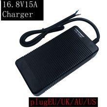 1 PC  best price 16.8v15A LiFePO4 cargador para 4 de 16.8 V la serie batería 14,4 inteligente env