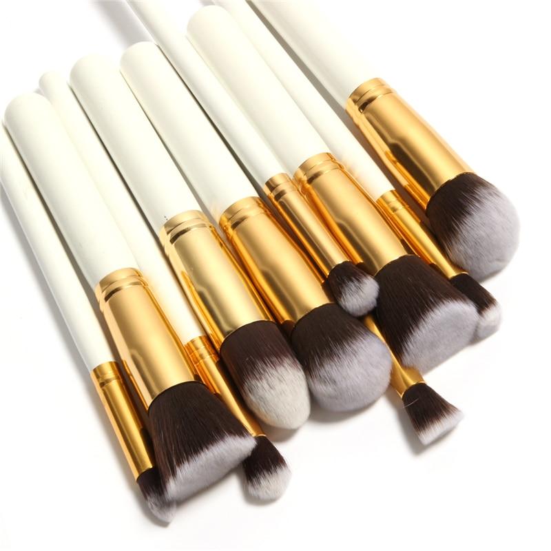 Wholesale High Quality Maquiagem Makeup brushes 10pcs/set Beauty Cosmetics Foundation Blending Blush Make up Brush tool Kit Set