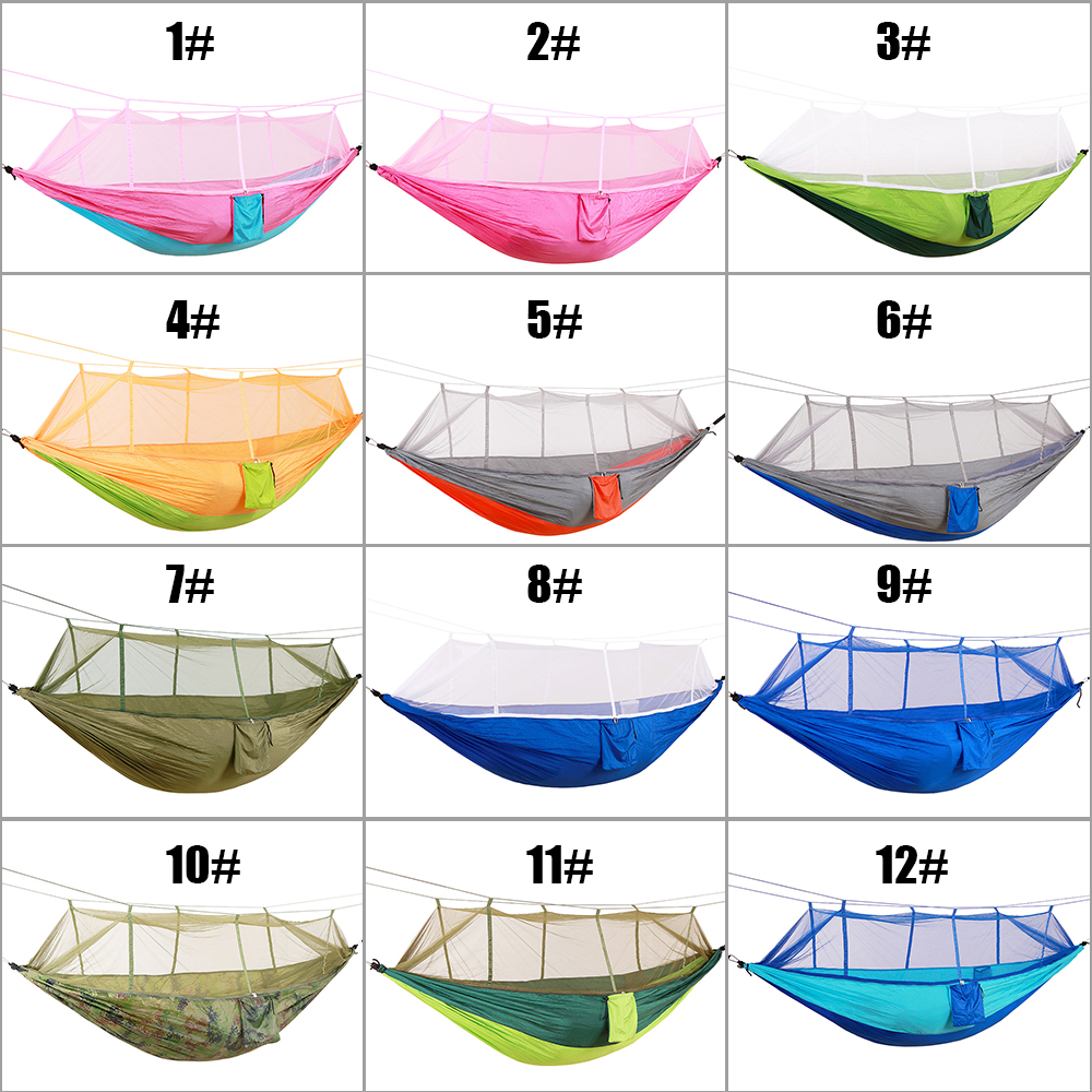 Outdoor Hiking Travel Backpacking Hammocks Portable Strength Fabric Mosquito Net Lightweight Hammocks Camping Hammock in Sleeping Bags from Sports Entertainment