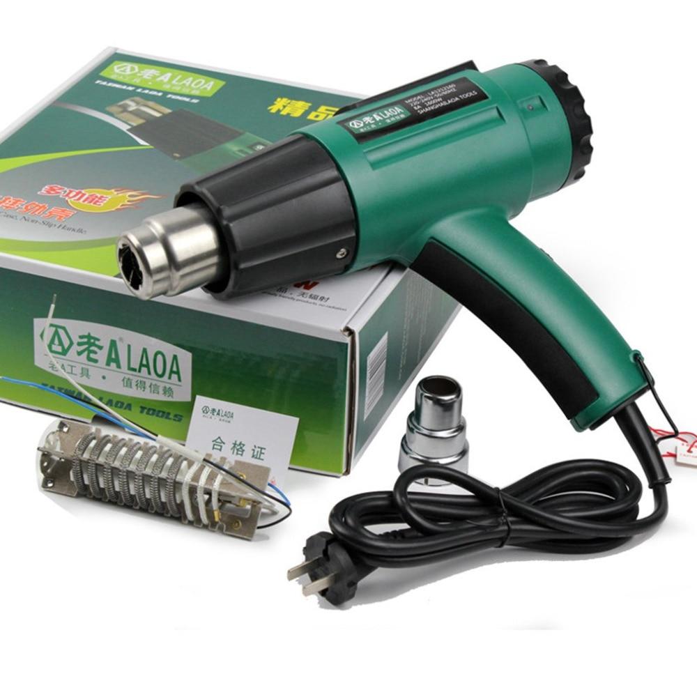 LAOA 1600W Industrial Electric Hot Air Gun Temperature Thermoregulator Heat Guns Hot Gun Long life 2 Gear Adjustable