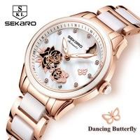 Sekaro Women Ceramic Clock Butterfly Design Women S Mechanical Watch Top Brand Luxury Women Sapphire Crystal