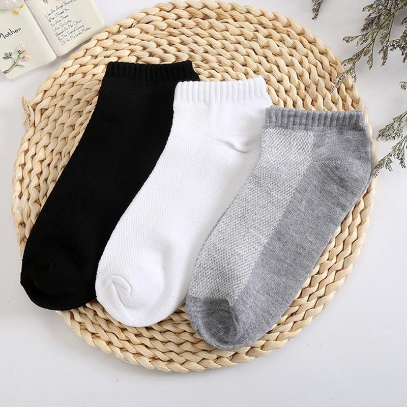 10PC=5 Pairs Men's Short Socks Breathable Low Cut Invisible Boat Socks Slippers Comfortable Ankle Men/Male Socks(China)