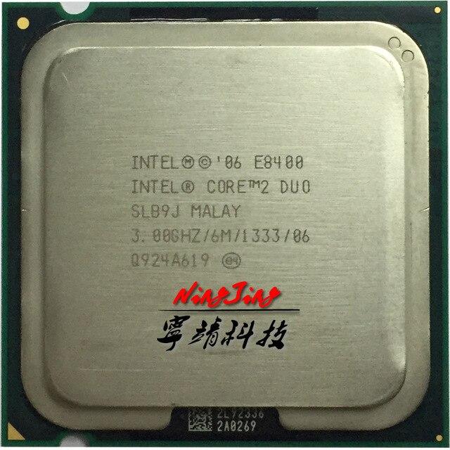 إنتل كور 2 ديو E8400 3.0 GHz ثنائي النواة معالج وحدة المعالجة المركزية 6 M 65 W LGA 775
