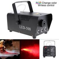 Sterowanie bezprzewodowe LED 500W kolor RGB LED maszyna do mgły/profesjonalny LED Fogger/etap wyrzutnik dla Bar / KTV w Oświetlenie sceniczne od Lampy i oświetlenie na