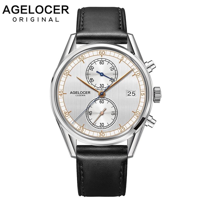 Original Swiss Brand AGELOCER Klockor Herr Chronograph Casual - Herrklockor