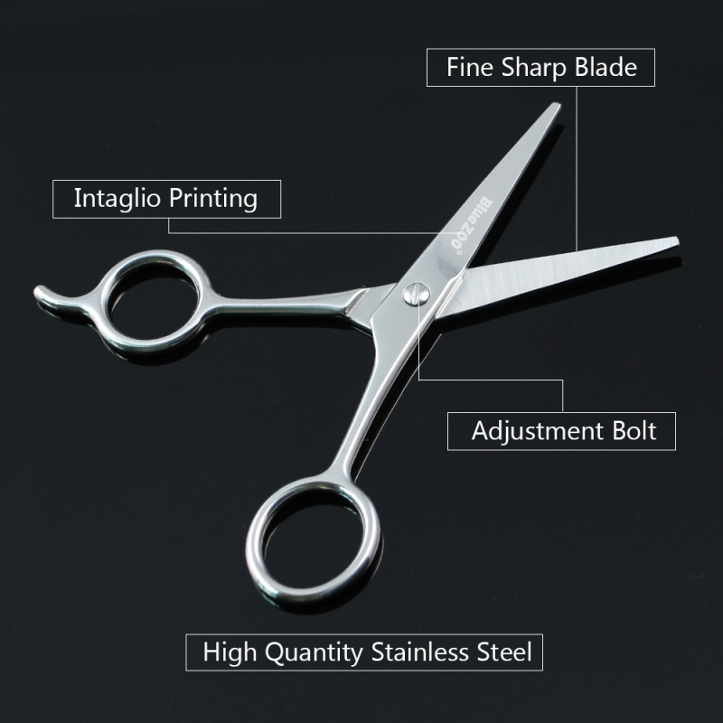 Mini Size Stainless Steel Beard Scissor for Barber Home Use Black Shaving Shear Beard Trimmer Eyebrow Bang Mustache Scissor New 5