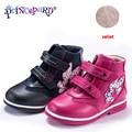 Princepard 2018 Nuovo scarpe ortopediche per i bambini casuali del cuoio genuino rosa blu marino di colore del bambino ortopedico scarpe ragazze e ragazzi 21 -36