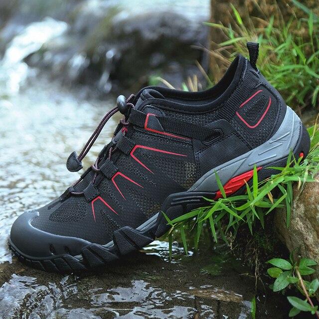 Men Women Hiking Shoes Trekking Climbing Boot Spring Summer Trail Mountain Water Sandals Sport Mesh Breathable Quick Dry Sneaker