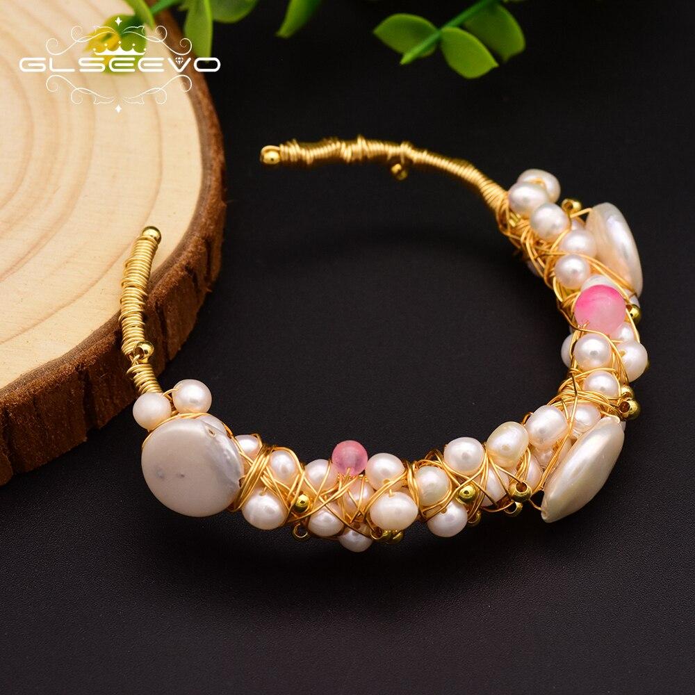 64bcbbe9a345 Perisbox pendientes de perlas de Color dorado con forma Natural para mujer  pendientes colgantes barrocos elegantes