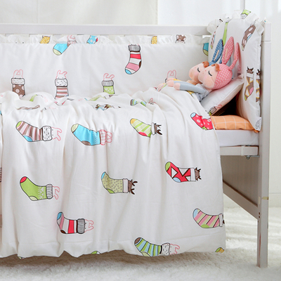 7PCS full Set Cotton Baby Bedding Set Crib Bedding For Newborns Multi Sizes Bed Set Duvet Sheet ,(4bumper+sheet+duvet +pillow)