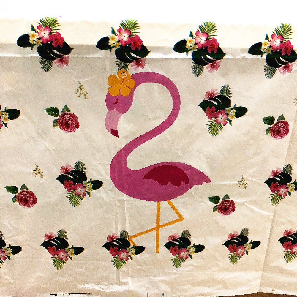 Image 5 - 108cm*180cm Flamingo Birthday Party Decoration Kids Boys Event Party Supplies Flamingo Table Cloth For Birthday Party Tablecloth-in Disposable Party Tableware from Home & Garden