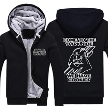 Mens Casual 2015 Movie Star Wars 7 The Force Awakens Darth Vader Come to the Dark Side Thick Winter Hoodies