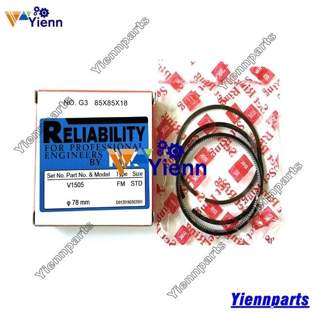 US $155 0 |Kubota V1505 Piston ring 16261 21050 16292 21050 for Kubota KX71  3 Mini Excavator V1505 diesel engine repair parts-in Pistons, Rings, Rods