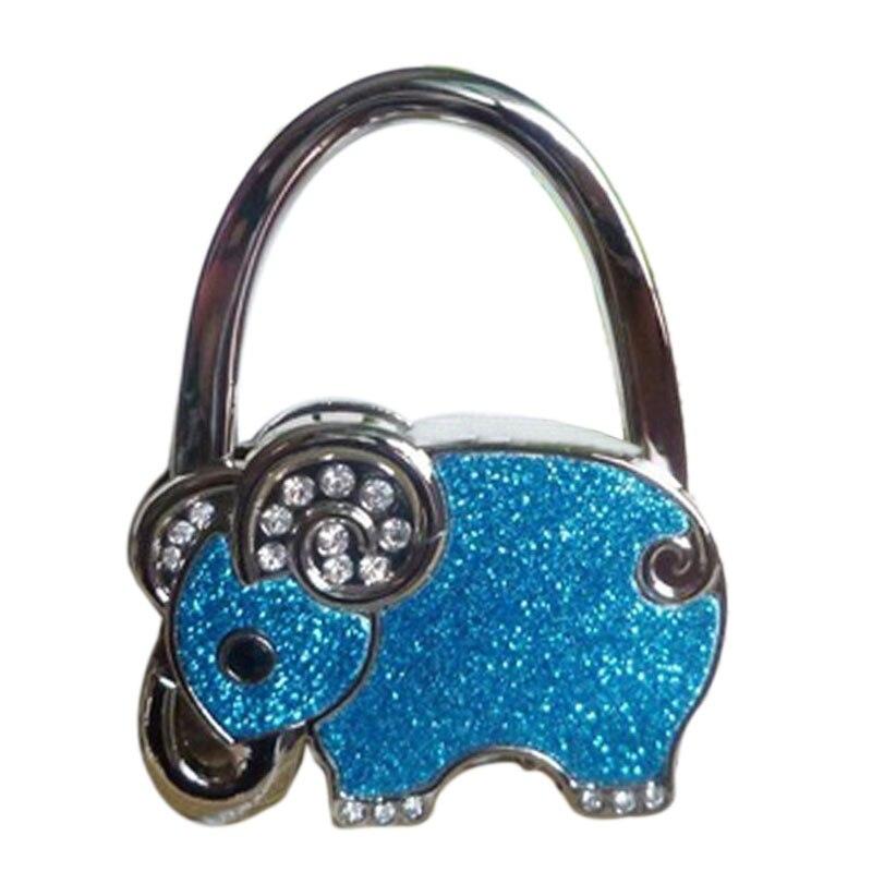 New Lovely Stainless Steel Colorful Folding Handbag Purse Tote Bag Hanger Decor Holder Table Hook For