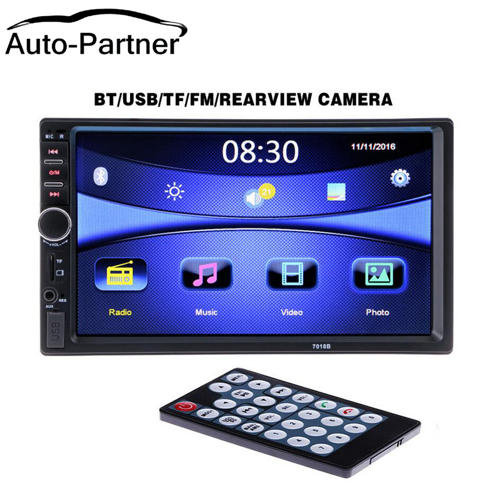 2 Din General Car Models 7'' inch LCD Touch Screen Car Radio MP5 Player Bluetooth Car Audio Support Rear View Camera 3 0 vx393 touch screen 71 44mm general touch screen a 3029 g e317