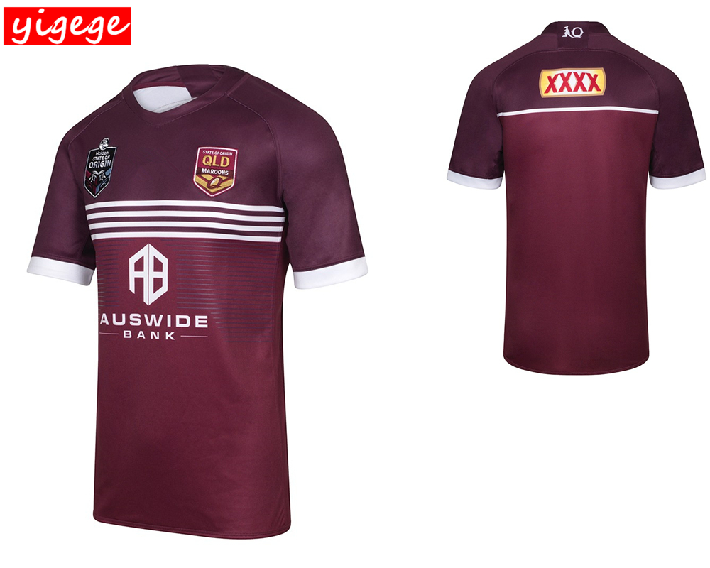 Australia 2019 MENS MAROONS JERSEY Queensland QLD Maroons home rugby Jerseys League Rugby shirt big size s-5xlAustralia 2019 MENS MAROONS JERSEY Queensland QLD Maroons home rugby Jerseys League Rugby shirt big size s-5xl