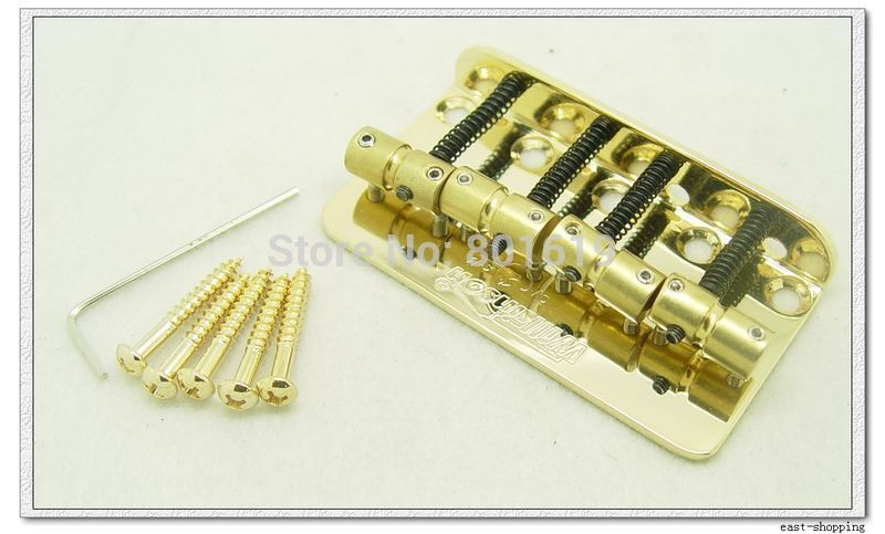 Wilkinson Lic WBBC Guitar Bridge Brass Saddle Gold New lucky ff718 lic