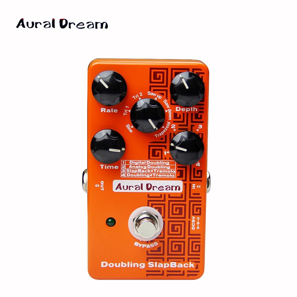 Aural Dream Digital Effect Pedal Digital Five knobs of Doubling SlapBack guitar pedal kaish 10pcs ivory guitar scalloped edge davies 1900h style amp knob effect pedal knobs