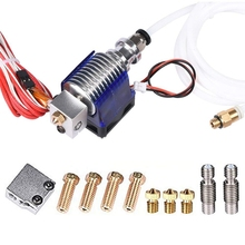 3D Printer J-Head Hotend With Fan For 1.75mm 12v V6 Direct Filament Wade Extruder 0.4mm Nozzle цена