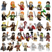 Single Model building blocks The Lord Of The Rings Samwise Gamgee Frodo Gandalf Saruman Beorn bricks toys(China)