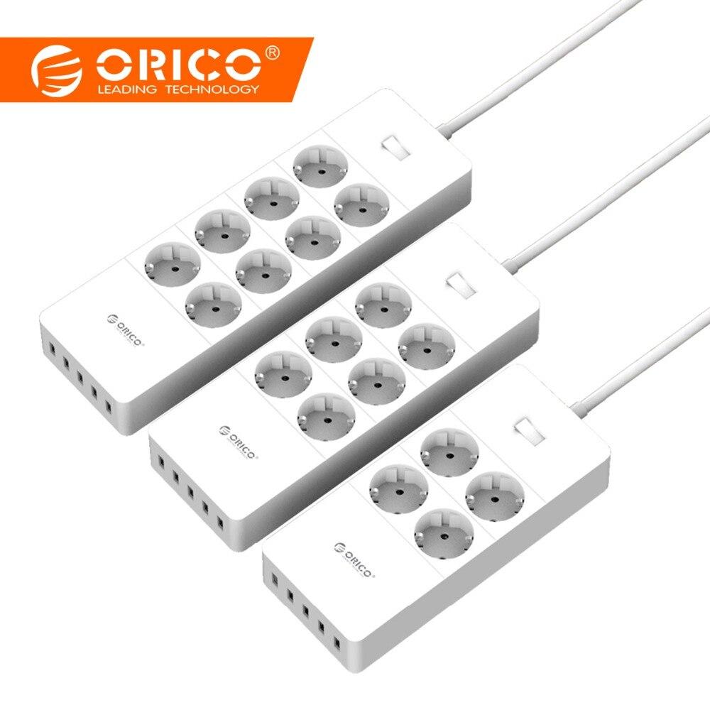 ORICO multiprise intelligente Portable De Charge 4/6/8 Sorties avec 5 2.4 Un 40 W chargeur usb Ports Protection Contre Les Surtensions avec 1.5 m Cordon D'alimentation