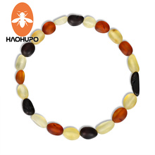 Hao Hu Po Classic Amber Bracelets Original Baltic Raw Baroque Beads Teething Necklace for Unisex Supply GIC Certificate