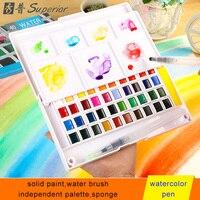 Superior Watercolor Paints Set 12 24 30 36 40 48 Colors Pigment Solid Colored Pencils For
