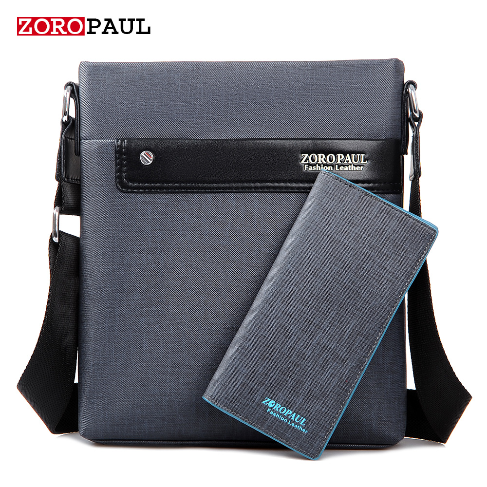 ZOROPAUL Men Fashion PU Leather Crossbads